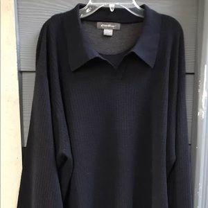 Eddie Bauer Men's Sweater 100% Merino Wool Sz L